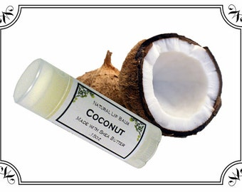 COCONUT Lip Balm made with Shea Butter - .15oz Oval Tube