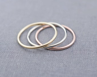 One 14K Gold Stacking Ring | Gold Stackable Ring | Gift for Her | made to order in 3-5 days