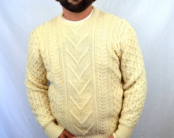 Vintage Pendleton Wool Cable Knit Pullover Sweater