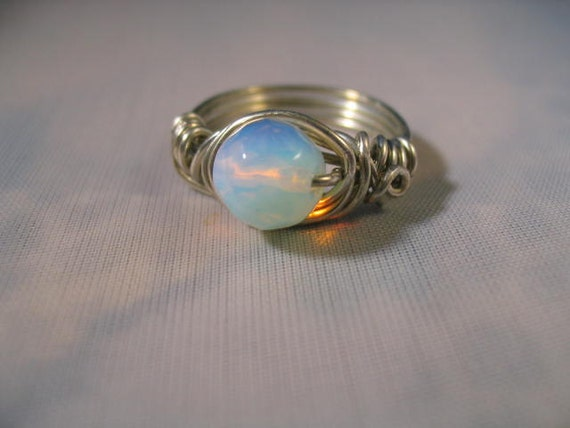 Opalite Ring Choose Your Size And Metal