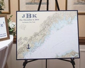 Poster Size Nautical Chart Wedding Guest Book