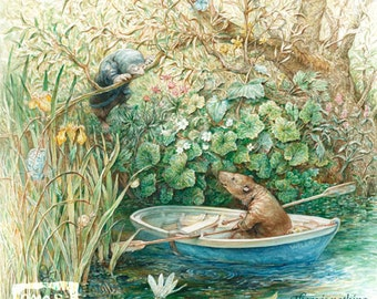 Mole and Ratty (print) Wind in the Willows