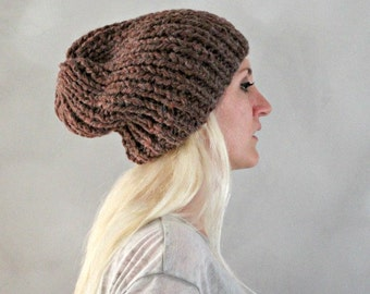 slouchy hat dark grey slouchy hat grey knit hat grey baggy beanie hand knit slouchy beanie loose beanie hat mens tam hat alpaca hat