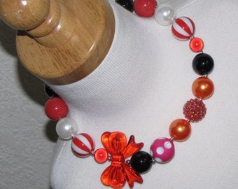 new Acrylic chunky beads bubblegum gumball jewlery girl Necklace Birthday minnie birthday