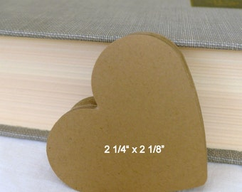 100 large wedding paper hearts - guest book hearts - kraft hearts - large kraft hearts confetti - die cut hearts