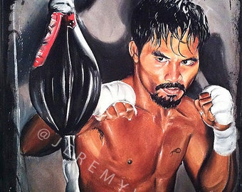 JEREMY WORST Manny Pacquiao BOOM Boxing Canvas Prints Artwork