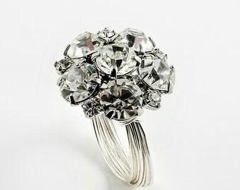 Swarovski Crytsal Button Ring