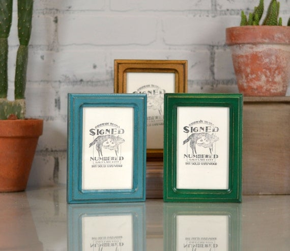 4x6 inch Picture Frame in Double Cove Style and Color OF YOUR CHOICE - Handmade Wooden 4x6 Photo Frame - Unique Modern Picture Frame 4 x 6