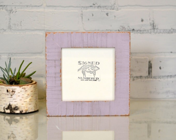 "6x6"" Picture Frame Handcrafted in 1.5"" Escalante Style on Alder Wood and in COLOR of YOUR CHOICE - 6x6 Photo Frame - Wooden Square Frame"
