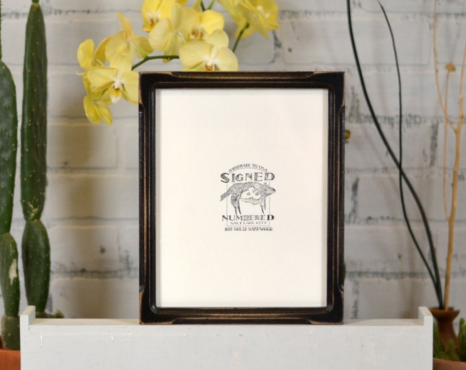 """8x10"""" Picture Frame in Deep Bones Canvas Depth Style and in Finish COLOR of YOUR CHOICE - 8x10 Photo Frame"""