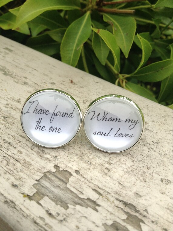 Anniversary Gift, Cufflinks for Groom, Song of Solomon, I Found the One My Soul Loves, Grooms Cufflinks, Custom Cufflinks, Customized