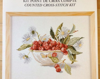 Cherries Cup - Coupe de Cerises Counted Cross Stitch Kit