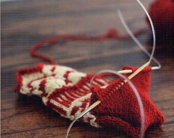 Circular Needle Knitting, Kotomi Hayashi - Japanese Knit Pattern Book, Easy Knitting Tutorial, Wrap Shawl, Scarf, Snood, Neck Warmer, B1613