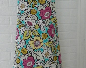 Floral Apron in jewel tones