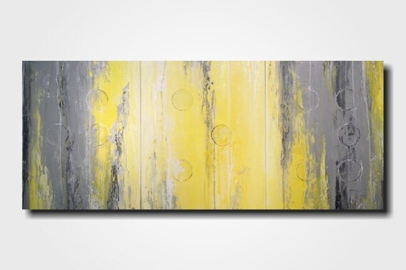 original large abstract braille painting 24 x 54 by. Black Bedroom Furniture Sets. Home Design Ideas