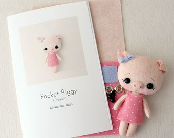 Cheeky Pocket Piggy Pattern Kit
