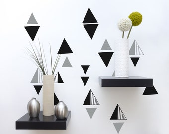 Triangle Wall Decal, Geometric Wall Decor, Triangles Dorm Decor, Geometric Nursery Decor, Interior Decorating, Modern Nursery Decor