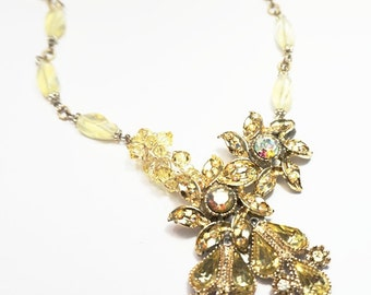 Canary Ice – Reclaimed Vintage Necklace