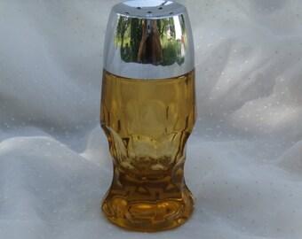 Amber Georgian Salt or Pepper Shaker by Anchor Hocking