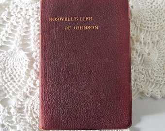 Antique book, Boswell's Life of Johnson,Oxford University press, 1924, beautiful old book with gilt edged pages