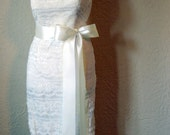 IVORY Bridal Sash Ribbon - 3 yards plain 2.25 inch luxurious