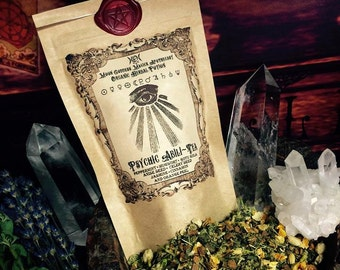 PSYCHIC Abili-Tea...Organic Herbal Tea ~  Psychic Ability ~ Lucid Dreaming Tea ~Psychic Awareness, Visions ~ Enhance your MAGICK