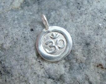 1 pc, 15x10mm, Handmade 925 Sterling Silver Ohm Symbol Pendant Charm, Yoga Charm, PC-0031