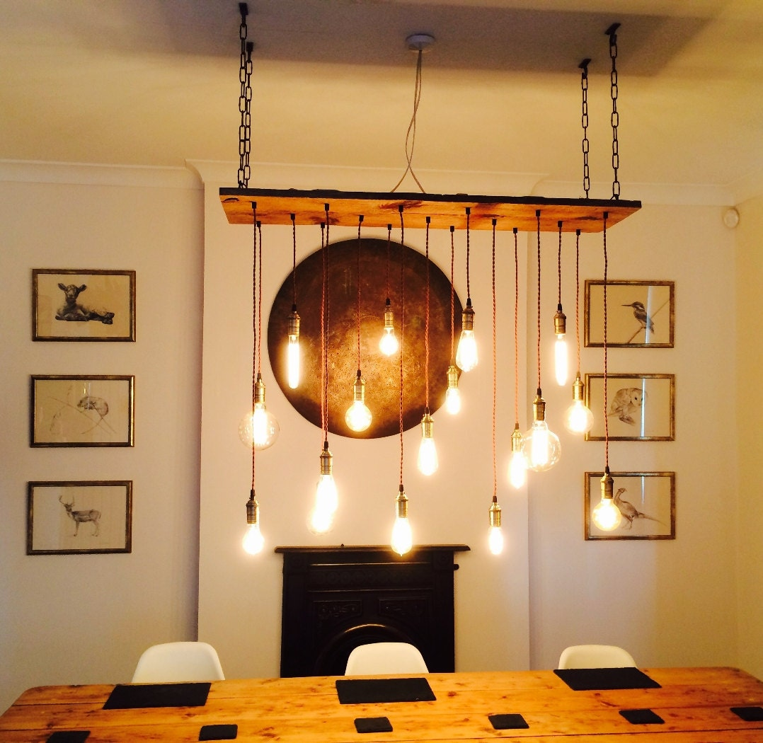 Wood Lighting Fixtures: Rustic Wood Chandelier 17 Pendant Lights Rustic Light