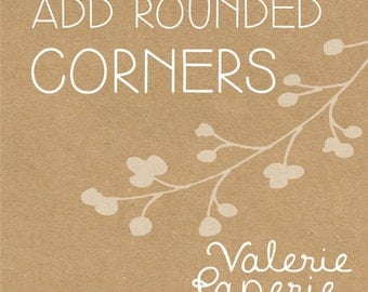 CORNER rounding ADD ON for super simple kraft business cards