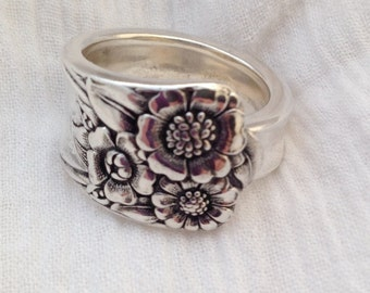 Spoon Ring April 1950 Size 5 to 14 Vintage Silverplate Silverware Jewelry