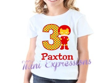 Ironman Girls Birthday Shirt Personalized