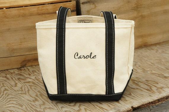 Vintage 90s Ll Bean Boat Amp Tote Shoulder Bag Embroidered