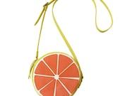 Fruit bag, Grapefruit bag, Handmade, crossbody bag, Women's Bag, Leather Bag / Leather Purse / fruit bag / citrus