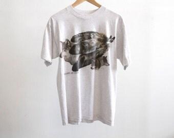 dreamcatcher WOLF snow forest epic heather grey COTTON t-shirt