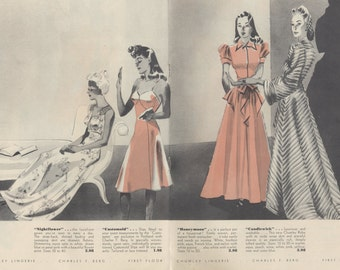 Vintage 1940s Fashion Catalogue PDF - Charles F. Berg Anniversary - INSTANT Download