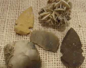 Rocks and Arrowheads Indian Artifacts