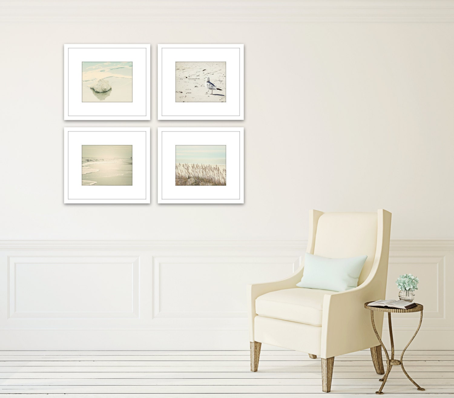 Beach Coastal Wall Decor : Nautical art set of prints beach wall gallery