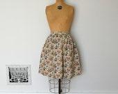 Vintage 50s Skirt - 1950s Novelty Skirt - The Lisa