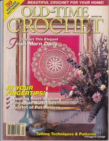 Old Time Crochet Magazine Winter 1992 Over 30 Vintage