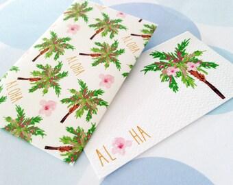 Hawaiian Gift Enclosure Card, Aloha Cards, Set of 10