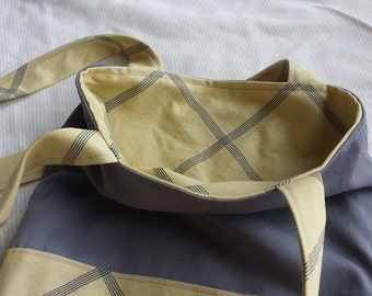 Reversible Tote Bag - Fully Lined - Book Bag - Purse