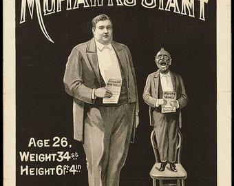 Mohawk's Giant, Freak Show Poster, Archival Quality Print