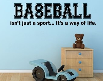 Baseball Wall Decal - Baseball Way of Life Sticker - Baseball Vinyl Wall Decal - Bedroom Baseball Theme Wall Decal - Baseball Wall Decor