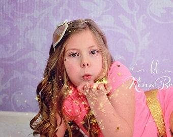 Gold Glitter Headband, Gold Sparkle Heart, Embroidered Heart Headband, Gold Glitter Child Belt, Birthday Girl Gift