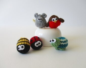 Teeny animals toy knitting patterns