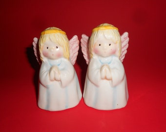 70s Angels Salt & Pepper Vintage Holiday Religious Figural Shakers