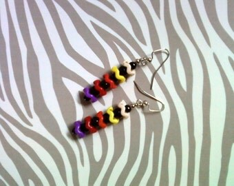 Rainbow Chevron Earrings (2105)