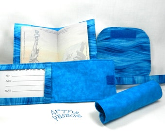 Travel Set - Passport Cover/Holder, Luggage Tag, Luggage Handle Wraps #1204