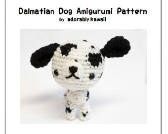 Dalmatian Dog Amigurumi Pattern, Crochet Dog Pattern, Amigurumi Dog Plushie, PDF Pattern, Amigurumi Crochet Pattern, Puppy Amigurumi Pattern