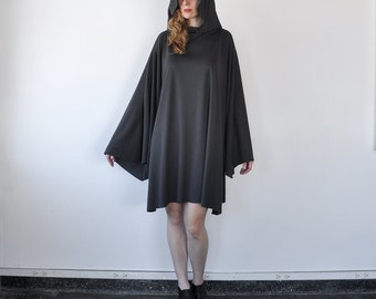 Soft Hooded Cloak with Sleeves Costume Men Women free size made to order